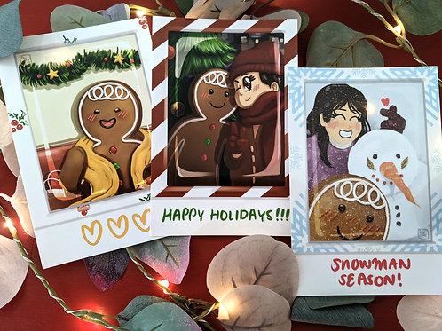 Gingerbread Boi Polaroid Date STICKER SET