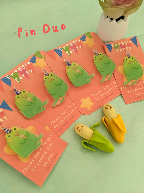 Froggie Party Pins