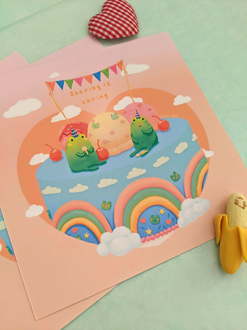 Froggie Party Prints