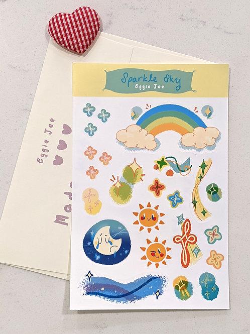 Sparkle Sky Sticker Sheet