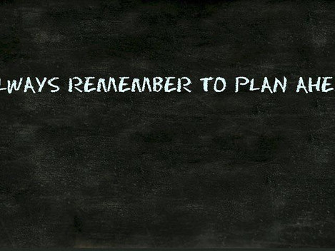 Start with a new plan!