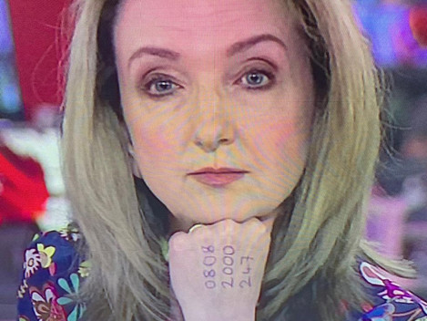 Good News Story #7 - Victoria Derbyshire Presents News With Important Hand Marking
