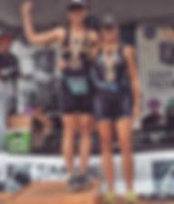 Oakland Triathlon Female Age Group podium