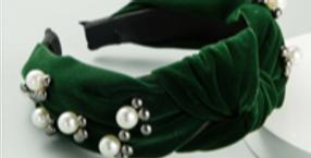 Dark Green Velvet Hairband