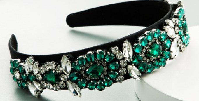Green Diamante Hairband