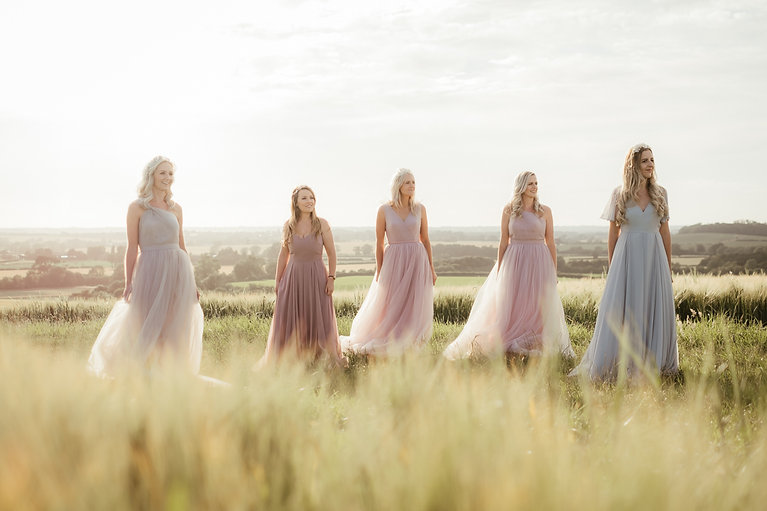 TH&TH Bridesmaids sunset shoot_Charliefl