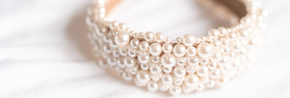 Luxe 'Ava' Pearl  Hairband