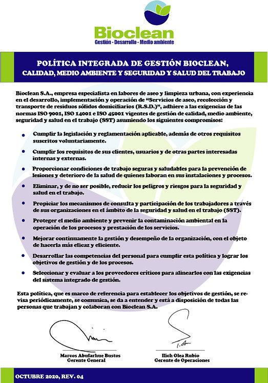 PLA-000 POLITICA BIOCLEAN rev 04 2020_10