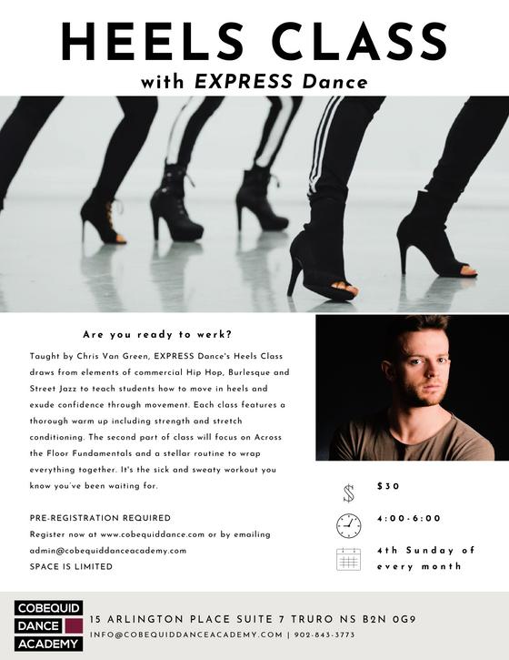 NEW! EXPRESS Dance Sunday Heels Class Series