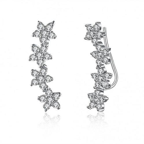 Blossom Flower 925 Sterling Silver Earrings