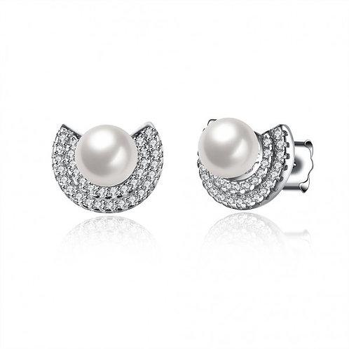 Luna Pearl 925 Sterling Silver Earrings