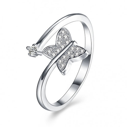 Melai 925 Sterling Silver Adjustable Ring