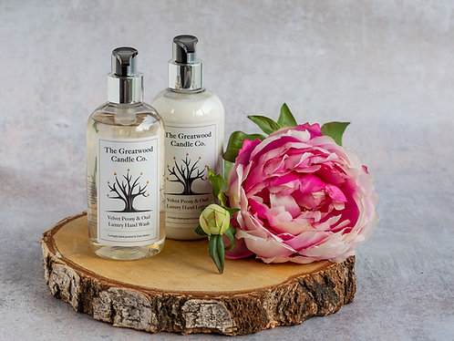 Velvet Peony & Oud Luxury Hand and Body Wash and Lotion Set