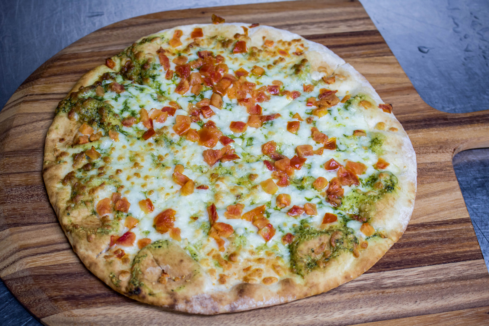 Pesto Pizza shot by Miami Food Photographer Jorge Alberto Perez