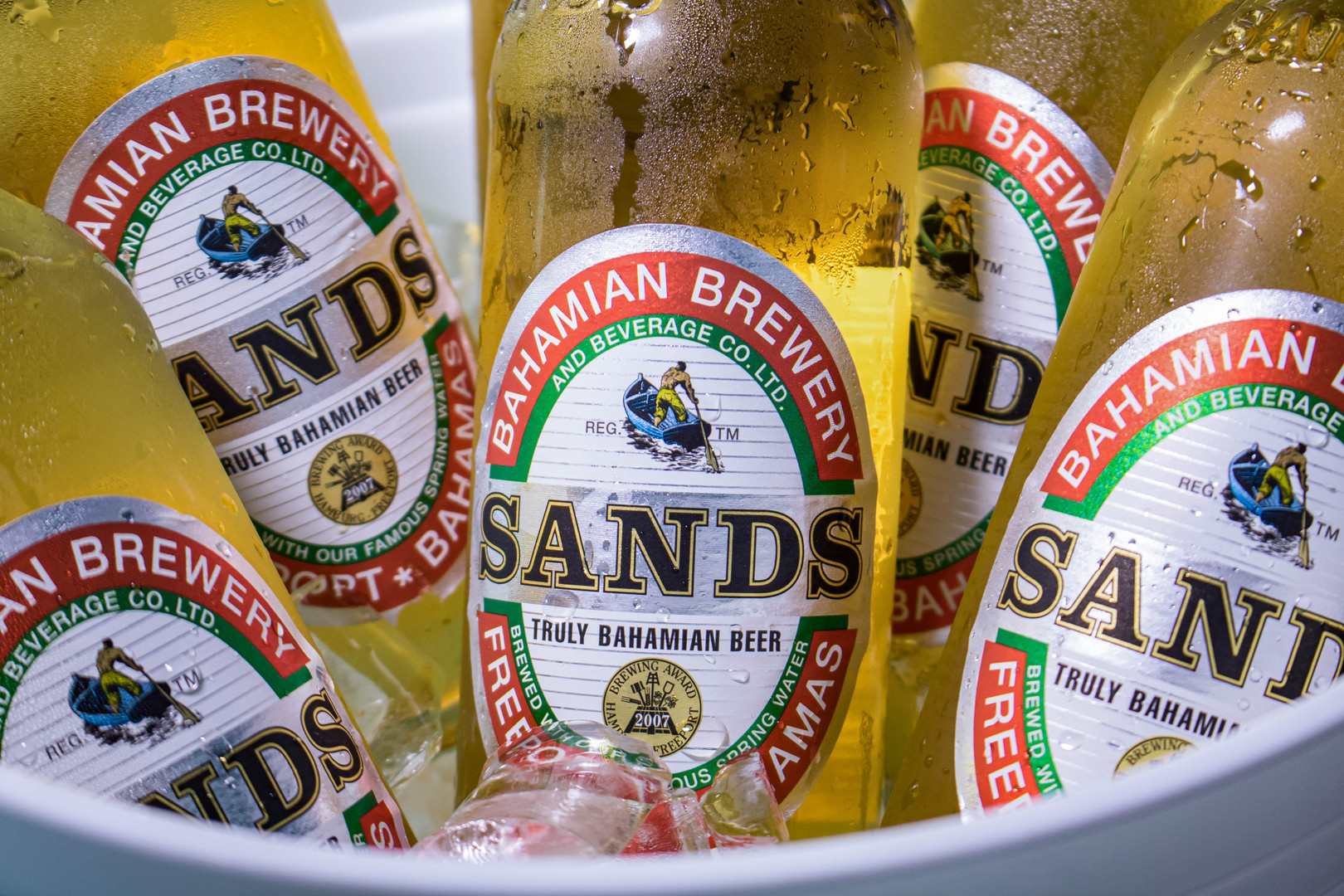 Bahamian Brewery Sands Beer Shot by Miami Food Photographer Jorge Alberto Perez