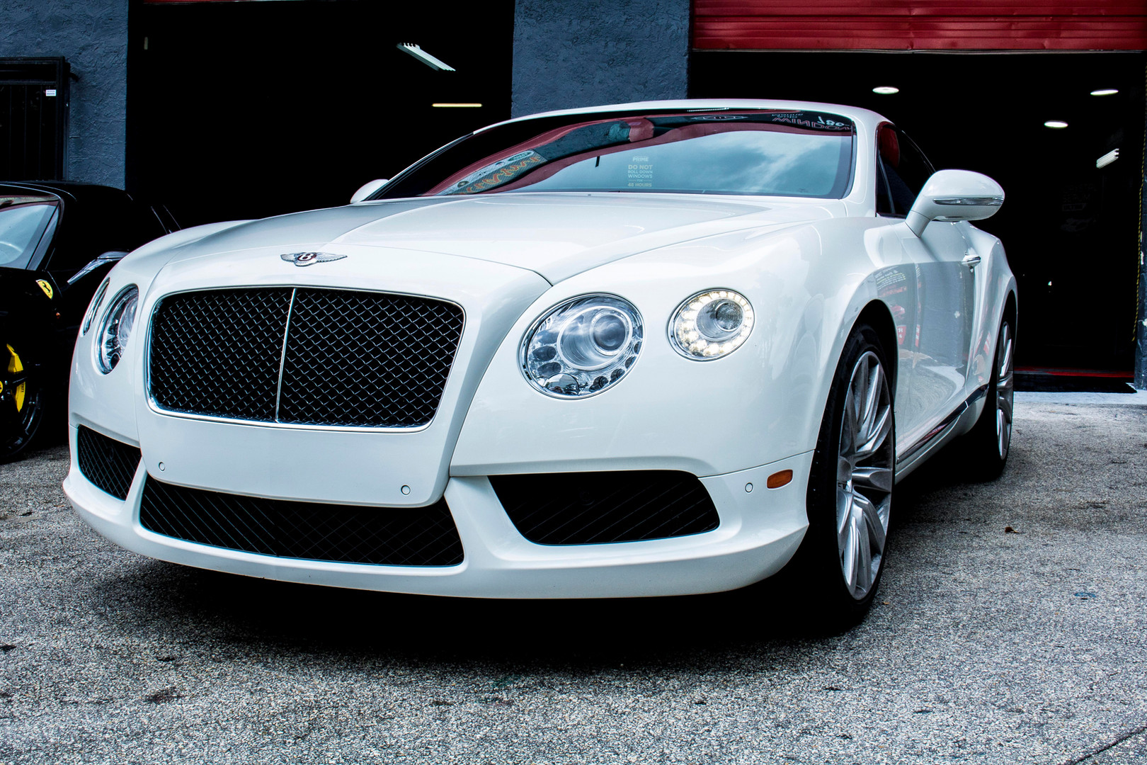 White Bentley Photographed by Jorge Alberto Perez  Miami Car photographer