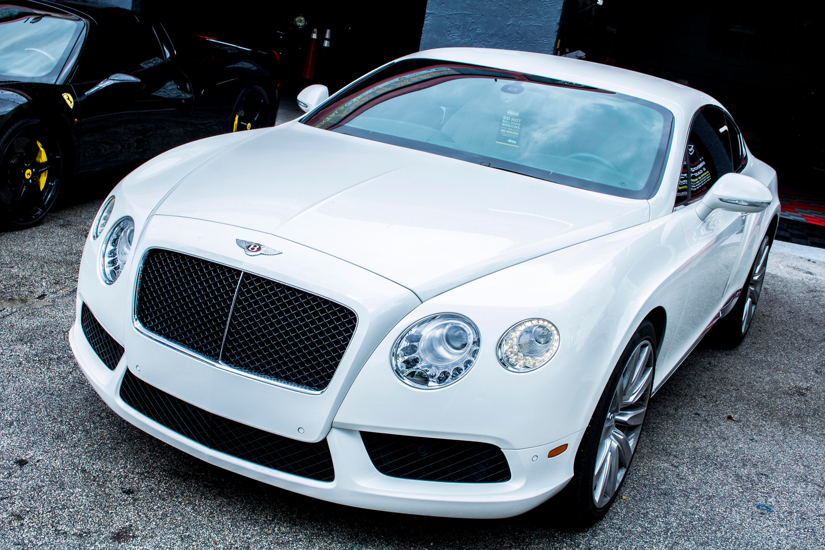 White Bentley Photographed by Jorge Alberto Perez  Miami Car photographer
