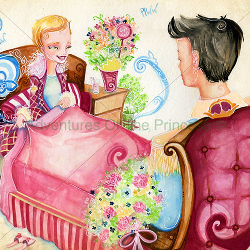 The Farting Princess and Her Prince© - Greeting Card