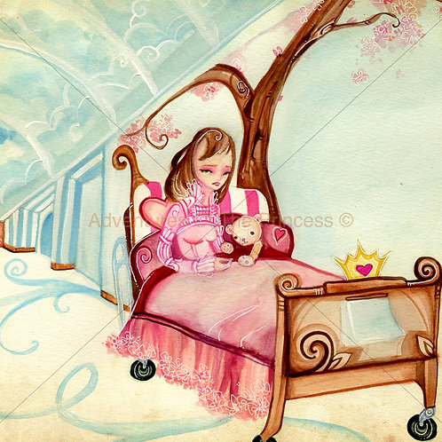 The Princess in The Hall of Trees© - Greeting Card