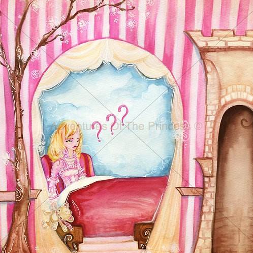 The Forgetful Princess© - Greeting Card