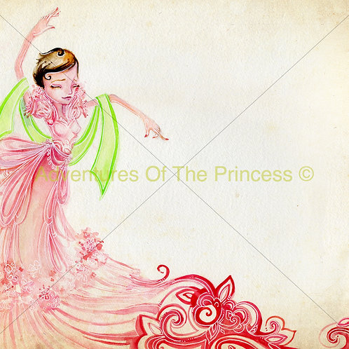 The Dancing Princess© - Greeting Card