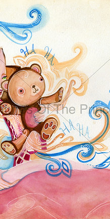 """The Princess and Mr. Snuggles""© - Print"