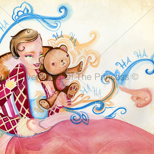 The Princess and Mr. Snuggles© - Greeting Card