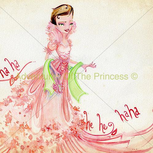 The Elegant Laughing Princess© - Greeting Card