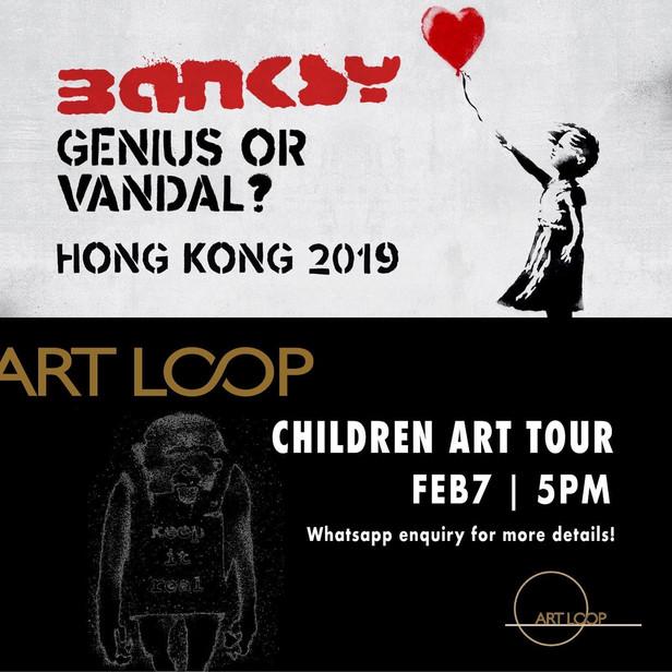 Children Art Tour @ Bansky Genius or Vandal exhibition