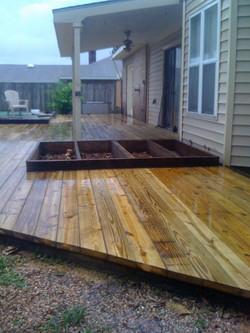 Deck With Garden Area