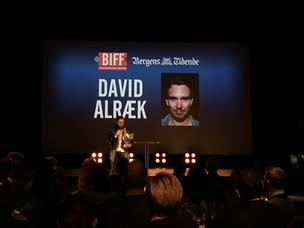 Tildelt pris som årets talent ved BIFF 2016