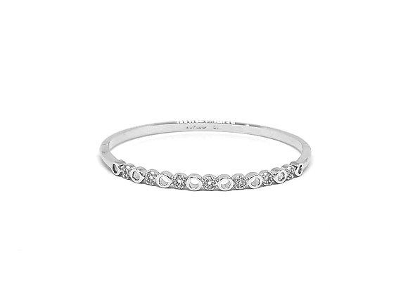Bracelet jonc anneau strass