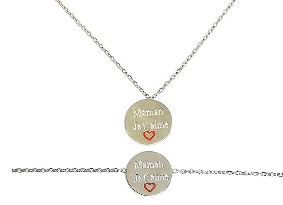Collier + Bracelet Maman Je T'aime