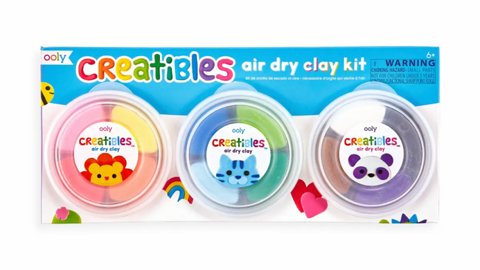 Air dry clay kit 12 colours