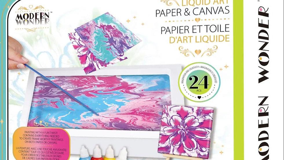 Liquid Art paper and canvas kit