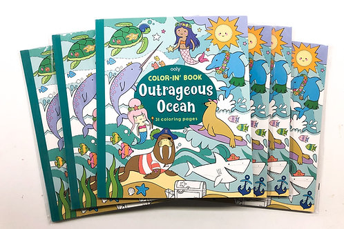Outrageous ocean colouring book