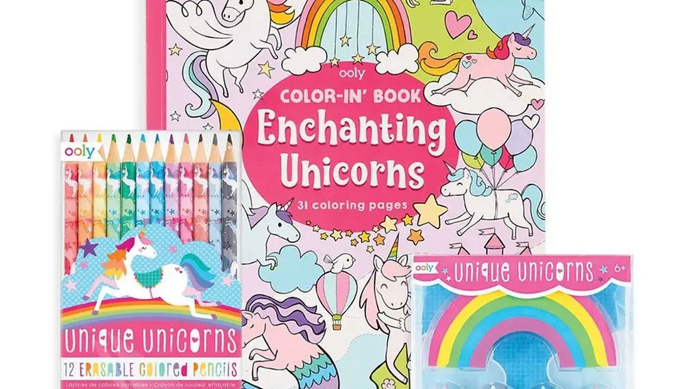 Enchanting unicorns Color in set