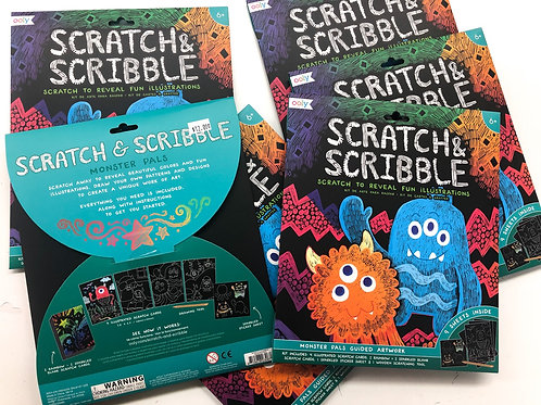 Scratch and scribble monster pals kit