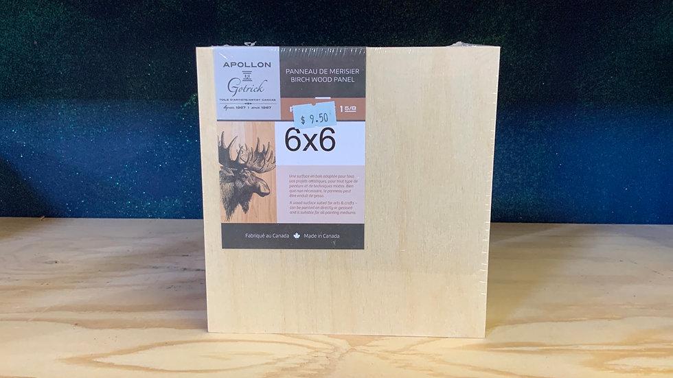 Birch Wood Panel - 6x6