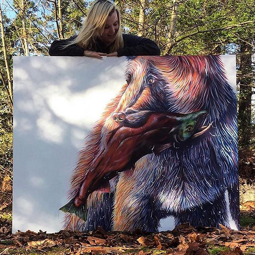 Giant bears in acrylic October 11th