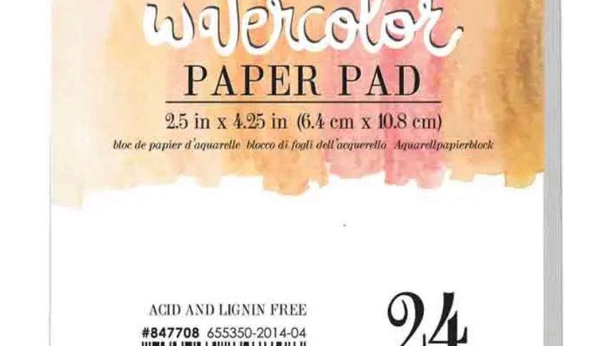 Mini watercolour pad 2.5 x 4.25