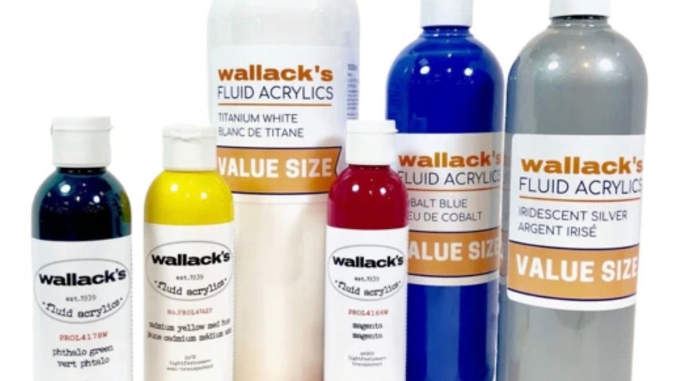 Wallacks fluid acrylics 120ml