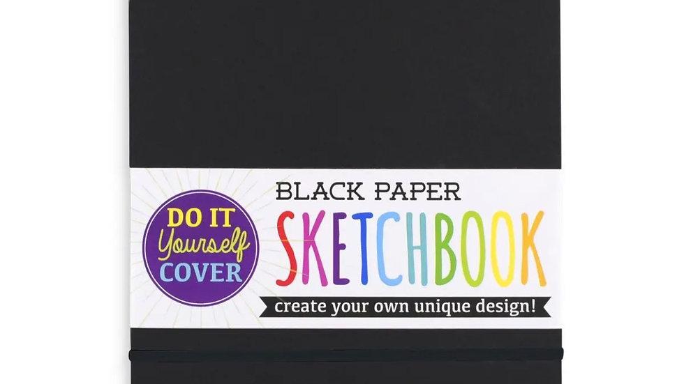 Black sketch pad with diy cover