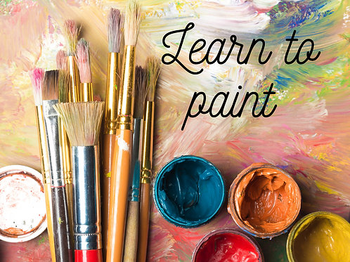 Learn to paint with acrylics October 3rd