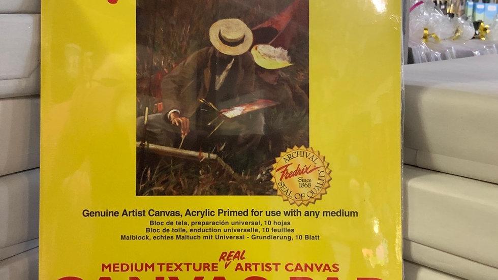Fredric Canvas Pad - Medium Texture Artist Canvas - 9x12 - 10 Sheets