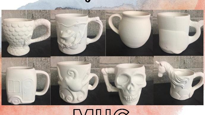 Paint your own mug workshop April 23rd