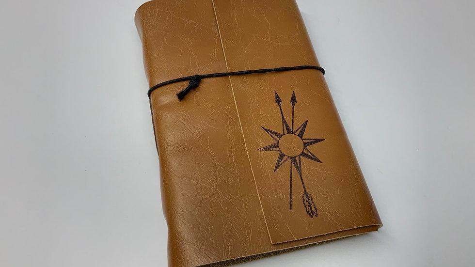 """4.5""""x7"""" Leather Bound True North Journal"""
