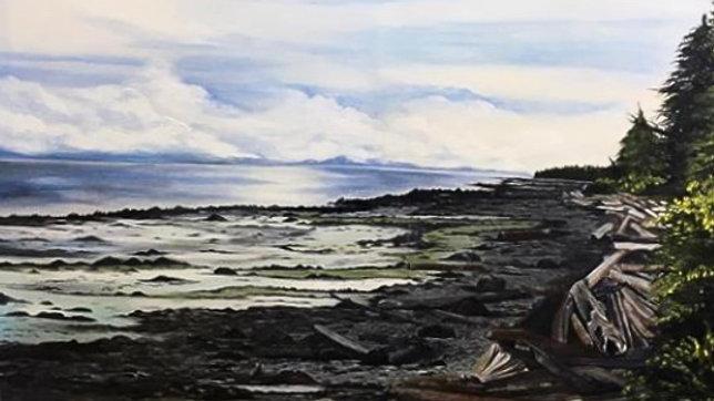 West coast landscape painting January 12