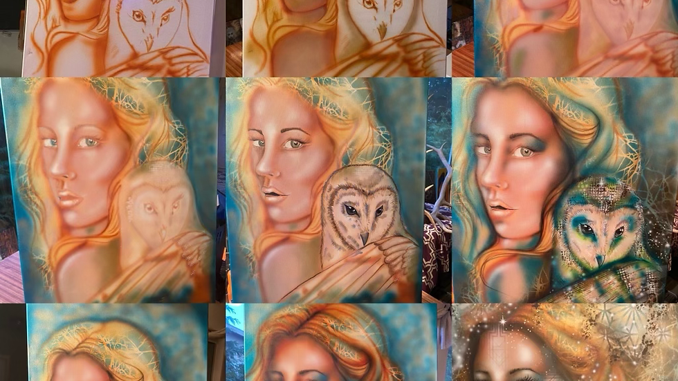 Beginners air brushing : free hand painting April 17th