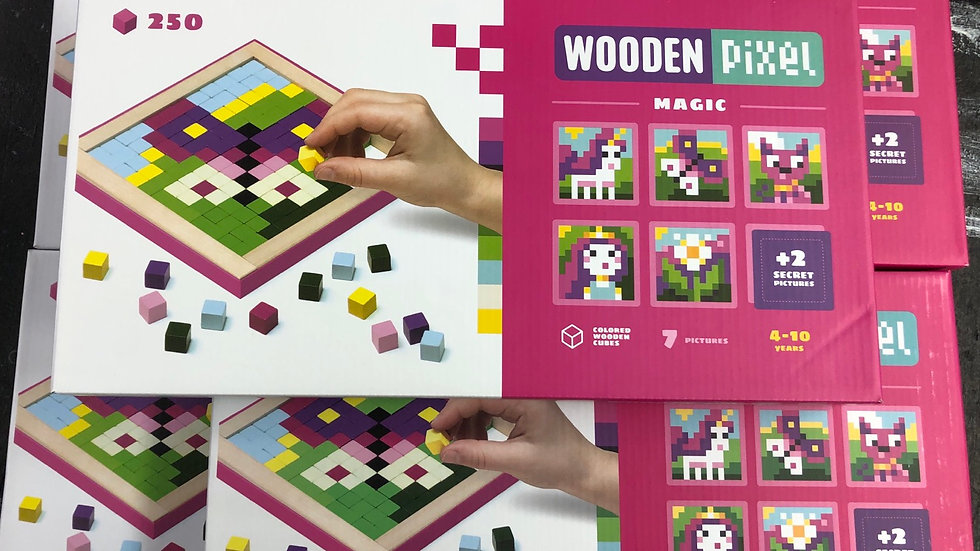 Wooden pixel kit magic